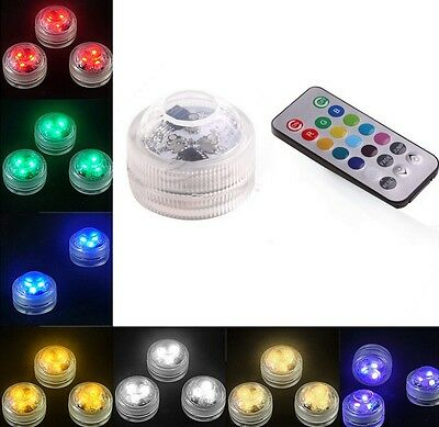 Swimming Pool Spa Bath LED Light Remote Waterproof Underwater Battery Candle