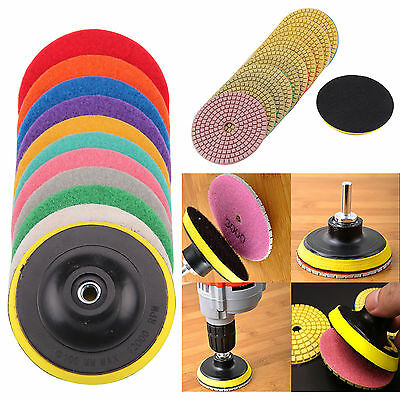 "4"" 100mm Professional DRY Diamond polishing pads Granite Marble Individual Grits"