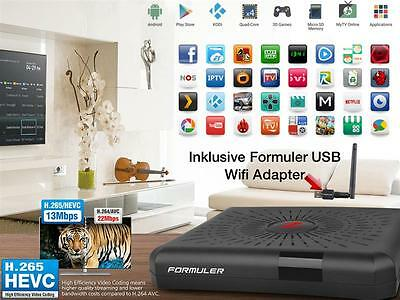 Formuler Z 4K IPTV Android Kitkat 4.4 Streaming TV mit USB Wifi Adapter