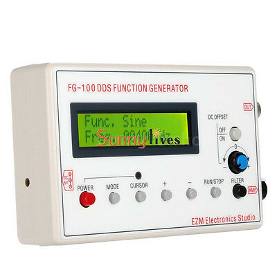 1HZ-500KHz DDS Signal Generator FG-100b Frequency Sine Square Triangle Wave New