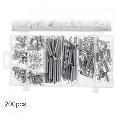 200PC Springs with Compression Springs and Extension Springs Electrical Hardware