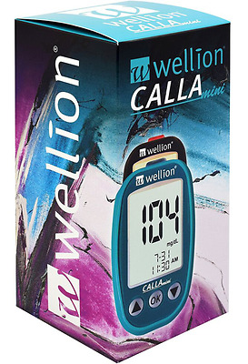 Wellion Calla Mini Blood Glucose Monitoring System mg/dL Petrol Color + Strips