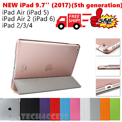 Smart Cover and Hard Back Case for NEW iPad 9.7''/iPad Air/iPad Air 2/iPad 4 3 2