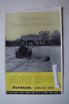 1937 2-Sided Advert for International & Fordson Agricultural Tractors