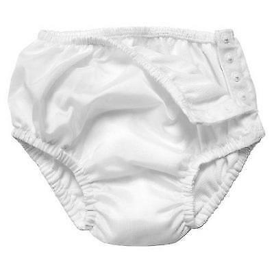 i play. Baby Snap Reusable Absorbent Swim Diaper, White, 6-12 months New