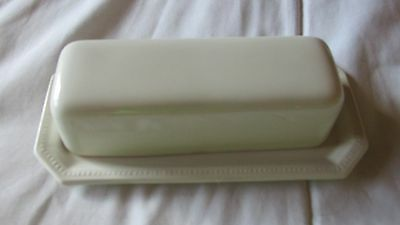Vintage Johnson Brothers White Butter Dish