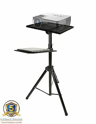 Allcam Projector Stand Tripod / Laptop Table / Monitor Speaker Mount -Extra Tray