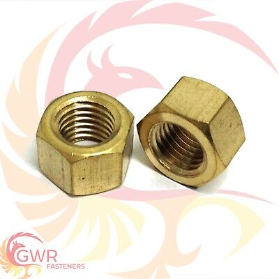 "1/4"" 5/16"" 3/8"" 7/16"" UNC or UNF - M8 or M10 - Brass Exhaust Manifold Nuts"