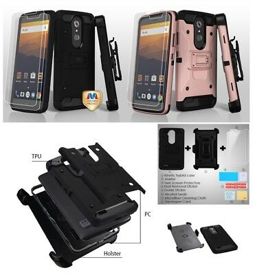 Samsung GALAXY J7 V Sky Perx Halo Hybrid Armor Rugged Case Cover Holster Screen