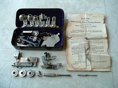 WHITE FAMILY ROTARY TREADLE SEWING MACHINE Parts Operation Manual & Accesories
