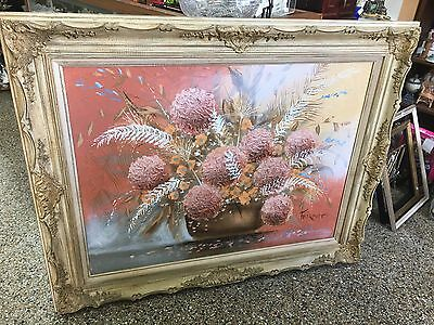 Vintage Framed Original Oil on Canvas Painting by Frank Ferrante