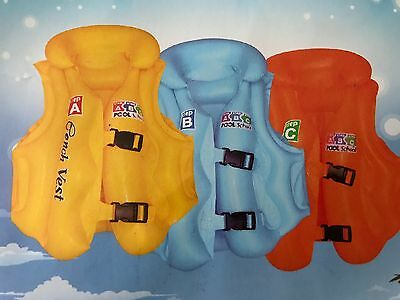 Inflatable Swim,Vest Children Kids Float Aid Jacket Baby Training Beach, 64x54cm