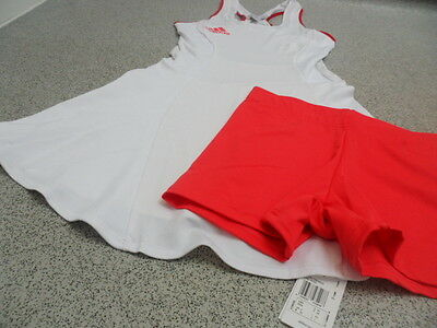 Adidas Women's Stella McCartney Roland Garros Tennis Dress + Shorts, Size: UK 10