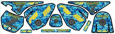 Yamaha pw80 decals graphics stickers Full kit blue pw 80