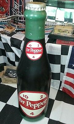 "Rare Vintage 1950's 60s Dr Pepper Soda Pop COLA 48"" STORE Display Bottle Sign"