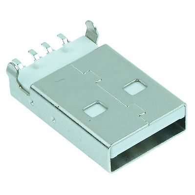 USB Type A Vertical Plug - White
