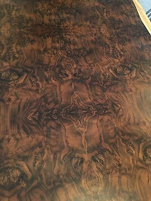 Burled Walnut Wood Veneer Furniture Finished 3 Pcs In Sequence With Foil