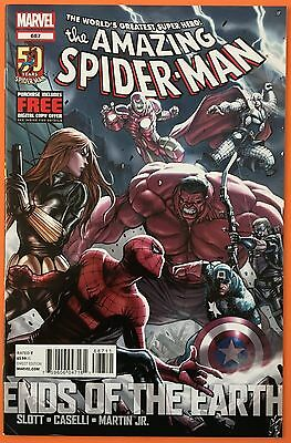 Amazing Spider-Man 687 Ends Of The Earth Avengers Marvel Comics