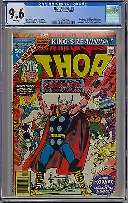 Thor King-Size Annual #6 CGC 9.6 NM+ Wp Marvel 1977 Guardians of the Galaxy GOTG