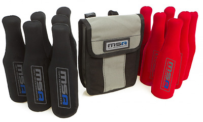 MSA 4X4 Stubbie Tubes with Canvas Bag Stubbie Cooler Bottle Holder STS