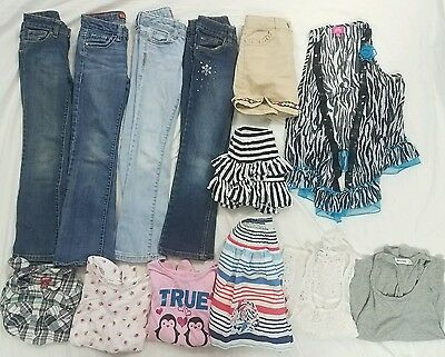 Large Lot Girls Clothes Jeans Skirts Shirts 7 Small Justice Abercrombie Levis