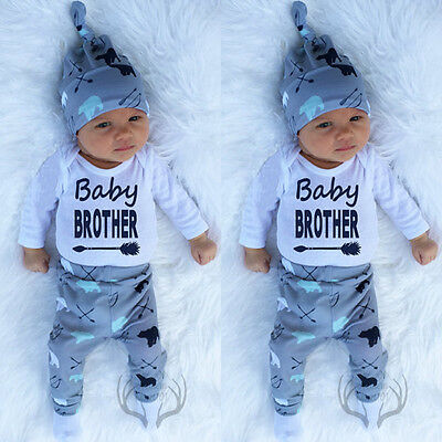 Newborn Baby Boys Coming Home Outfits Tops Romper Leggings Outfits Clothes g