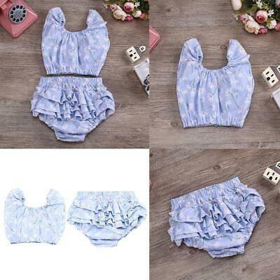 Toddler Baby Girls Clothes T Shirt Top + Floral Bloomer Short Outfit Set Costume