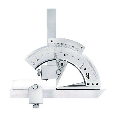 QST 0-320° Universal Stainless Steel Bevel Protractor Angular Ruler Goniometer A