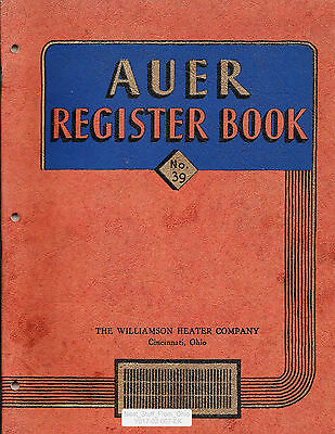 AUER REGISTER BOOK No. 39 (HEATING / COOLING VENTS & REGISTERS) CLEVELAND, OHIO