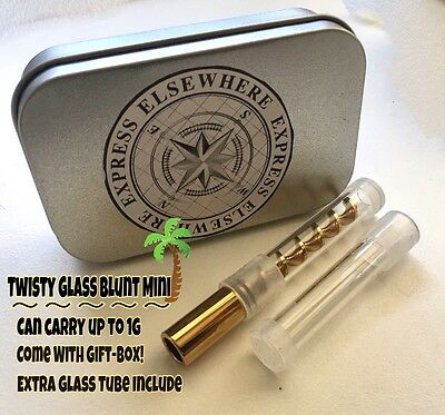 Twisty Glass Blunt Gold MINI Extra Glass Tube Included Newest Version! US-Seller