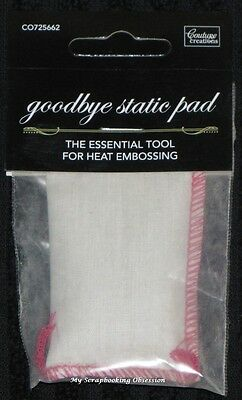 Couture Creations 'GOODBYE STATIC PAD' Essential Tool for Heat Embossing Craft