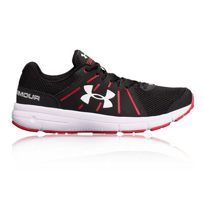 Under Armour Dash RN 2 Mens Black Red Cushioned Running Shoes Trainers