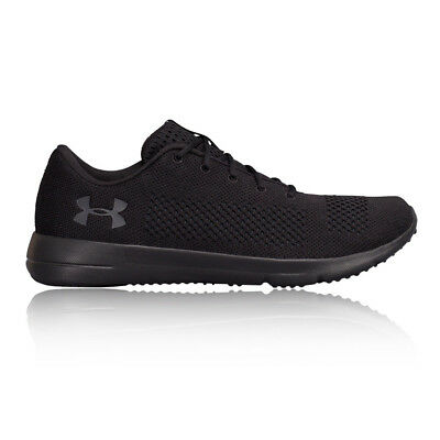 Under Armour Rapid Mens Black Cushioned Running Road Sports Shoes Trainers