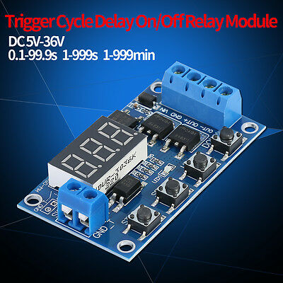 DC 5V~36V Dual-MOS Control Cycle Trigger Timer Delay Relay Relaismodul mit LED