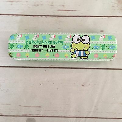 Sanrio Kero Kero Keroppi Double Deck Tin Pencil Case Pen Case Vintage 1988 1993
