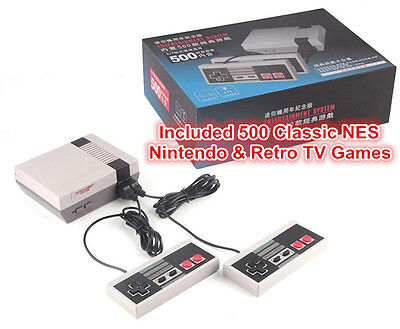 Mini Classic Edition NES Console Entertainment System +500 Retro Game PAL & NTSC