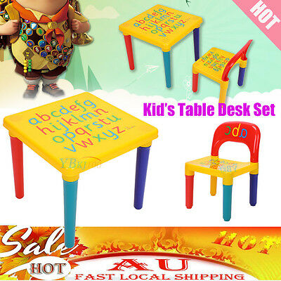 XMAS Kids Children Activity Playing ABC Alphabet Learning Table and Chair Set AU