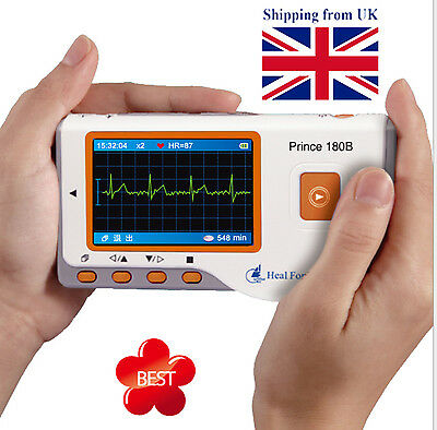 HEAL FORCE Portable Easy ECG EKG Handheld Heart Monitor Sensor USB PRINCE 180B Y