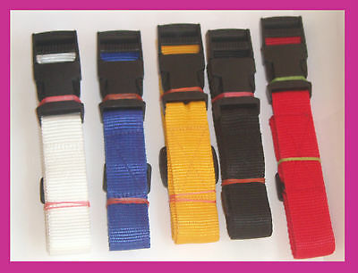 19MM Golf Trolley Luggage Tie Down Fastening webbing straps COLOURED 1METER X 2