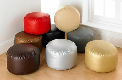 Luxury Faux Leather Bean Bag Footstool Fully Filled With Free UK Delivery