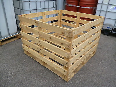 Wooden Crate 1040 x 1110mm Fruit Vegetable Box Crate Pallet Box Container Potato