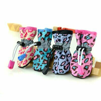 4Pcs Pet Dog Cat Rain Protective Boots Puppy Waterproof Anti-Slip Shoes Booties