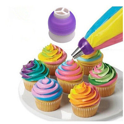 3Colors Pastry Converter Nozzles Coupler Icing Cream Baking Cake Decor Tool Mold