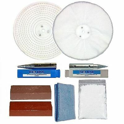"Pro-Max Silver Gold Platinum Bench Grinder Jewellery Metal Polishing Kit 6""x1''"