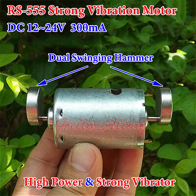 DC12V-24V RS-555 Motor Strong Vibration Vibrating Motor For Massager Dual Hammer