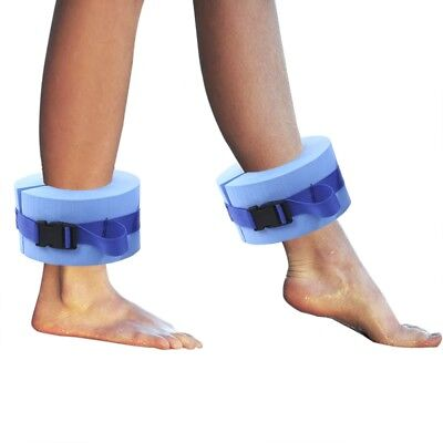 Paired Water Aerobics Swimming Weights Aquatic Cuffs for Arm or Ankle - BLUE