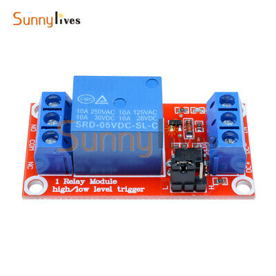 Hot 5V 1-Channel Optocoupler Relay Module for Arduino H/L Level Triger New
