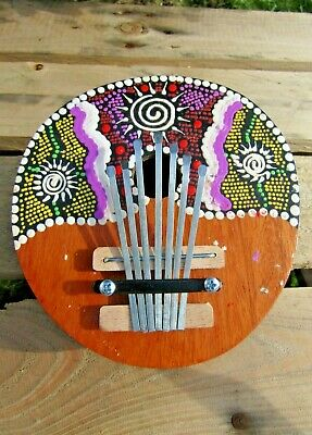 Fair Trade Hand Carved Made Wooden Coconut Karimba Mbira Kalimba Thumb Piano