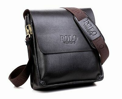 2017 New Men Genuine Leather Business Handbag shoulder bags black dark brown bag