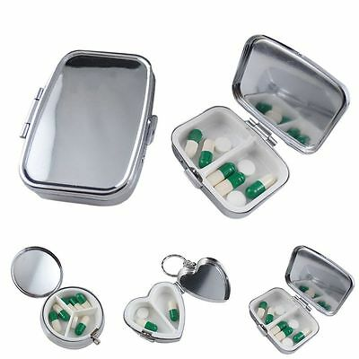 Metal Pillola Box Tablet Medicine Caso Organizer Portaoggetti Holder Dispenser